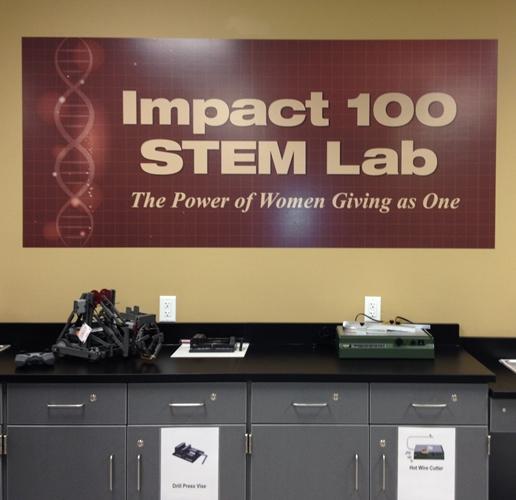 Impact 100 STEM Lab Sign